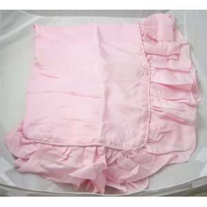 100% Silk Standard/queen Rose Ruffled Pillow Sham