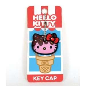 Hello Kitty Pink Face Ice Cream w/ Chocolate & Sprinkles