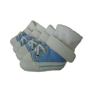 Baby Blue Dog Sneakers (Size 0)