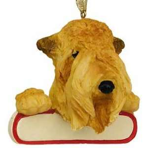 Personalizable Wheaten Christmas Ornament