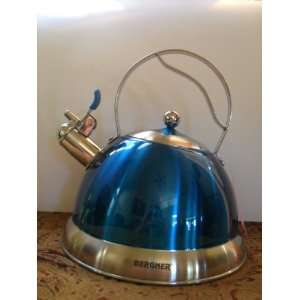 Whistling Kettle Stainless Steel Teal Blue