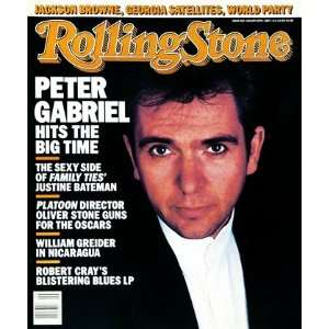 Peter Gabriel, 1987 Rolling Stone Cover Poster by Robert