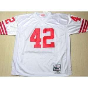 Lott Jerseys? San Francisco 49ers #42 Ronnie Lott White Throwback