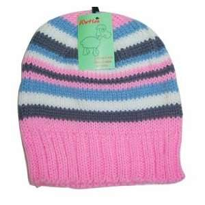 100% Acrylic Warm Winter Hats, Pink and Grey  Sports