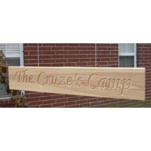 Personalized Double Wooden Sign w/ Square Ends