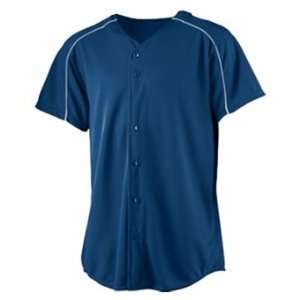 Augusta Youth Wicking Button Front Custom Baseball Jersey