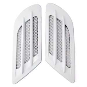 White Automotive Replace Decoration Side Fender Air Flow Intake Hood