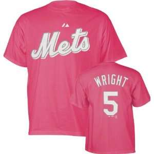 David Wright Girls 7 16 Raspberry Pink Name and Number New York Mets T