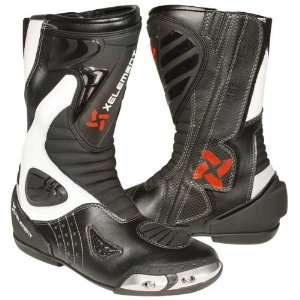 Black and White Leather Mens Racing Boot   Size  8 1/2 Automotive
