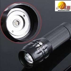 HitLight Zoomable High Lumen LED Aluminum Flashlight