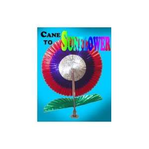 Cane to Sunflower Complete Magic Silk Illusion Tricks