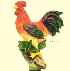 HANDPAINTED FARM YARD ROOSTER PEN by U WOOD WOODEN TOYS