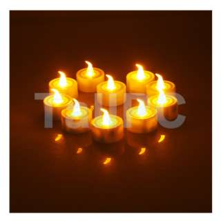 Lot of 12 pcs Yellow Color Light LED Candle for Christmas Wedding