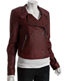 Andrew Marc ruby leather asymmetrical zip moto jacket   up to