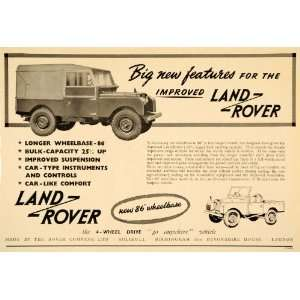 1953 Ad Land Rover 4 Wheel Drive British Car Vehicle