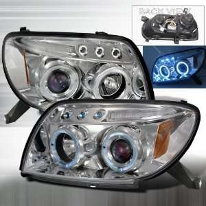 06 Toyota 4Runner Projector Headlights   Chrome Blue Lens Automotive