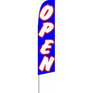 Open Extra Wide Swooper Feather Business Flag Office