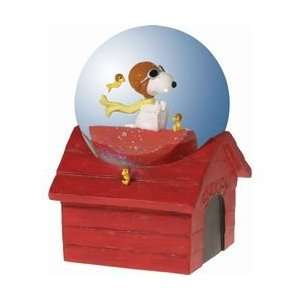 Beautiful Snoopy Flying Ace Waterglobe