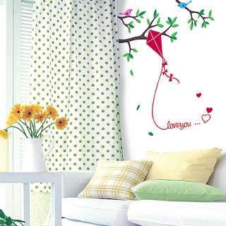 Kite Tree Birds Wall Stickers Home Decor Vinyl Decals